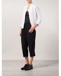 Issey Miyake - White - Geometric Texture Jacket - Women - Cotton/polyester/polyurethane/triacetate - 2 - Lyst