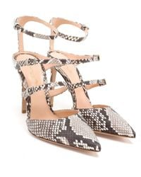 Gianvito Rossi - Metallic Buckled Python Pumps - Lyst
