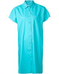 Moschino | Blue - Shirt Dress - Women - Cotton - 38 | Lyst