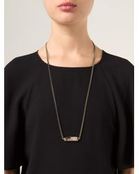 One OAK By Sara - Brown 'flora' Necklace - Lyst