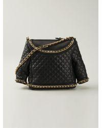Moschino - Black Biker Shoulder Bag - Lyst