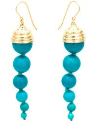 Aurelie Bidermann | Metallic Long 'lakotas' Earrings | Lyst