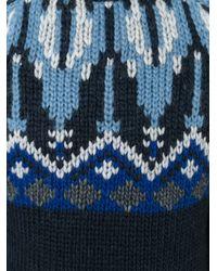Moncler - Blue Fair Isle Jumper for Men - Lyst