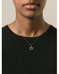 KENZO - Metallic Small 'eye' Necklace - Lyst