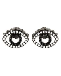 KENZO - Black 'eye' Earrings - Lyst