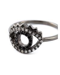 KENZO | Black 'eye' Ring | Lyst