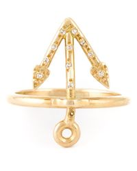 Natasha Zinko | Metallic Mini Anchor Ring | Lyst
