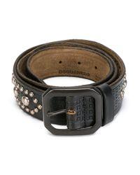 DSquared²   Black Studded Embossed Belt for Men   Lyst