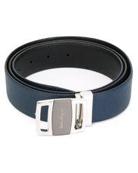 Ferragamo | Blue Logo Plaque Belt for Men | Lyst