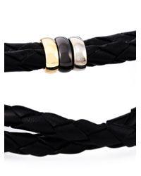 Paul Smith - Black Woven Leather Bracelet for Men - Lyst