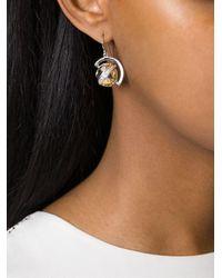 True Rocks - Metallic Globe Drop Earrings - Lyst
