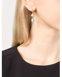 Irene Neuwirth | Blue Turquoise And Pearl Drop Earrings | Lyst