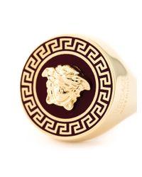 Versace - Red Medusa Ring - Lyst