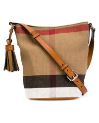 Burberry | Brown Check Canvas Crossbody Bag | Lyst