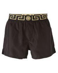Versace - Black - 'greca' Swim Shorts - Men - Polyester - 4 for Men - Lyst