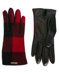 DSquared² - Black Checked Gloves - Lyst
