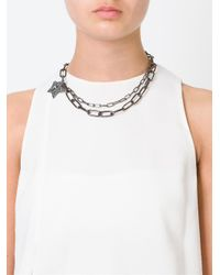 Lanvin - Black Star Pendant Necklace - Lyst