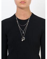 Maison Margiela - Metallic Ring Pendant Necklace - Lyst