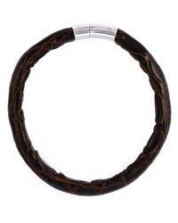 Tateossian - Black 'alligator Cobra' Bracelet for Men - Lyst