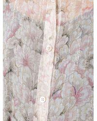 Dries Van Noten - Multicolor Printed Sheer Shirt - Lyst