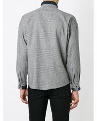 Versace - Black Check Shirt for Men - Lyst