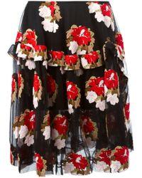 Simone Rocha | Embroidered Tulle Skirt | Lyst