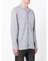Hardy Amies - Gray Camicia A Quadri for Men - Lyst