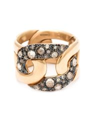 Pomellato | Brown Diamond Pavé Chain Ring | Lyst