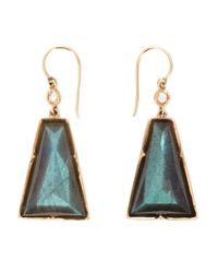 Irene Neuwirth | Green 18kt Rose Gold Labradorite Drop Earrings | Lyst