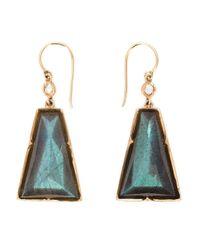 Irene Neuwirth | Metallic 18kt Rose Gold Labradorite Drop Earrings | Lyst
