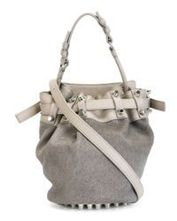 Alexander Wang | Gray 'diego' Bucket Crossbody Bag | Lyst