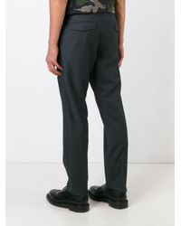 Valentino - Gray Straight Leg Trousers for Men - Lyst