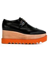 Stella McCartney - Black 'brogue Elyse' Shoes - Lyst