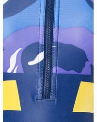 Adidas By Stella McCartney - Blue Zip Up Top - Lyst