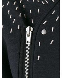 Rick Owens Lilies - Black - Stitch Detail Coat - Women - Nylon/polyamide/polyurethane/wool - 42 - Lyst