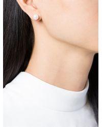 Maison Margiela | Metallic Loop And Pearl Earrings | Lyst