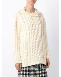 Simone Rocha - White Scallop Neck Sweater - Lyst