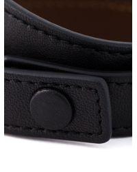 Givenchy | Black Double Wrap Bracelet | Lyst