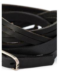 Werkstatt:münchen - Black Werkstatt:münchen Multi Strap Buckle Bracelet - Lyst