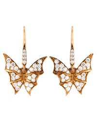 Stephen Webster | Metallic Diamond Wing Earrings | Lyst