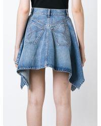 Moschino - Blue Asymmetric Denim Skirt - Lyst