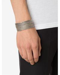 1-100 - Metallic '167' Cuff Bracelet - Lyst