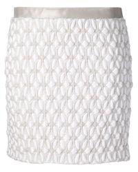Iris Van Herpen - Gray - 3d Weave Skirt - Women - Cotton/polyester/viscose/wool - 36 - Lyst