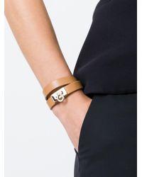 Ferragamo - Brown Gancio Wrap Around Bracelet - Lyst