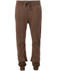 Haider Ackermann - Brown - Gathered Ankle Track Pants - Women - Cotton/spandex/elastane/rayon - M - Lyst