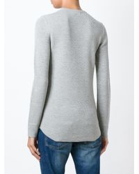 6397 - Gray - Crew Neck Sweater - Women - Wool - L - Lyst