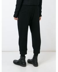 The Viridi-anne - Black Cropped Track Pants for Men - Lyst