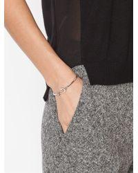 Miansai - Metallic Silver Mini Anchor Hook Bangle - Lyst