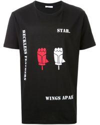 Aganovich | Black Printed T-shirt for Men | Lyst