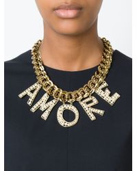 Dolce & Gabbana | Metallic 'amore' Necklace | Lyst